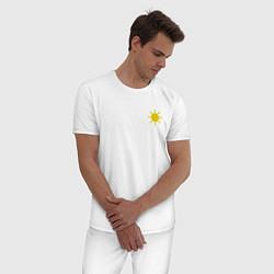 Пижама хлопковая мужская GOOD MOOD ХОРОШЕЕ НАСТРОЕНИЕ цвета белый — фото 2