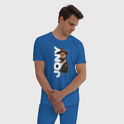Пижама хлопковая мужская Jony цвета синий — фото 2