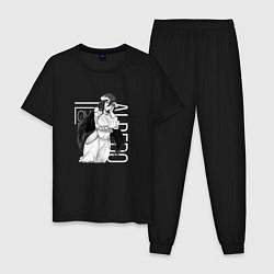 Пижама хлопковая мужская Альбедо Оверлорд цвета черный — фото 1