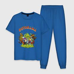 Пижама хлопковая мужская Slurm team цвета синий — фото 1
