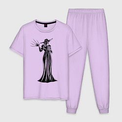Пижама хлопковая мужская Alcina Dimitrescu цвета лаванда — фото 1
