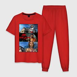 Пижама хлопковая мужская Dead Island Мертвый остров цвета красный — фото 1