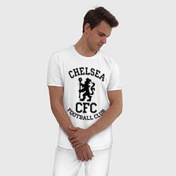 Пижама хлопковая мужская Chelsea CFC цвета белый — фото 2