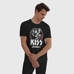 Пижама хлопковая мужская KiSS Logo цвета черный — фото 2