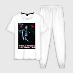 Пижама хлопковая мужская Terminator JD цвета белый — фото 1
