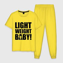 Пижама хлопковая мужская Light weight baby цвета желтый — фото 1
