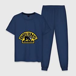 Пижама хлопковая мужская HC Boston Bruins Label цвета тёмно-синий — фото 1