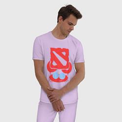 Пижама хлопковая мужская Cancer: Dota 2 Champion цвета лаванда — фото 2