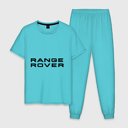 Пижама хлопковая мужская Range Rover цвета бирюзовый — фото 1