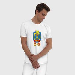 Пижама хлопковая мужская 76 гв. ВДД цвета белый — фото 2