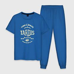 Пижама хлопковая мужская Time & Space: Tardis цвета синий — фото 1