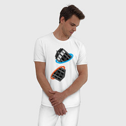 Пижама хлопковая мужская Tardis Portal цвета белый — фото 2