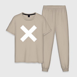 Пижама хлопковая мужская The XX: Angels цвета миндальный — фото 1