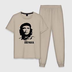 Пижама хлопковая мужская Эрнесто Че Гевара цвета миндальный — фото 1