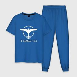Пижама хлопковая мужская Tiesto цвета синий — фото 1