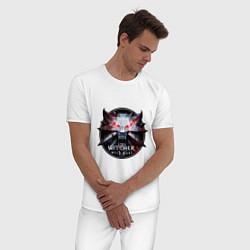 Пижама хлопковая мужская The Witcher 3 цвета белый — фото 2