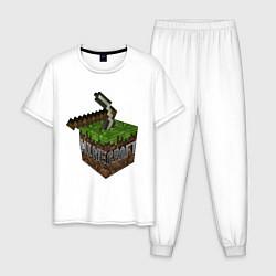 Пижама хлопковая мужская Minecraft Grabber цвета белый — фото 1