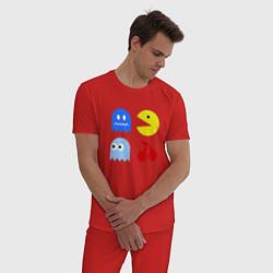 Пижама хлопковая мужская Pac-Man Pack цвета красный — фото 2