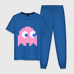 Пижама хлопковая мужская Pac-Man: Pinky цвета синий — фото 1