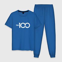 Пижама хлопковая мужская The 100 цвета синий — фото 1