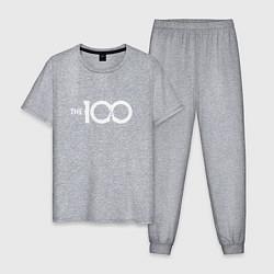 Пижама хлопковая мужская The 100 цвета меланж — фото 1
