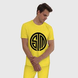 Пижама хлопковая мужская SoloMid цвета желтый — фото 2