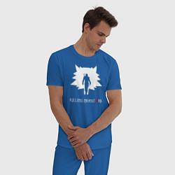 Пижама хлопковая мужская Killing monsters цвета синий — фото 2