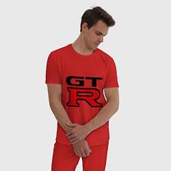 Пижама хлопковая мужская Gtr цвета красный — фото 2