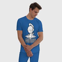 Пижама хлопковая мужская Armind цвета синий — фото 2