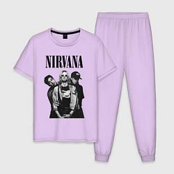 Пижама хлопковая мужская Nirvana Group цвета лаванда — фото 1