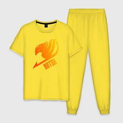 Пижама хлопковая мужская Натсу цвета желтый — фото 1