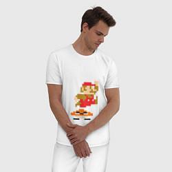 Пижама хлопковая мужская Mario: 100 coins цвета белый — фото 2