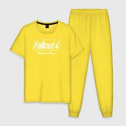 Пижама хлопковая мужская Fallout 4: Welcome Home цвета желтый — фото 1