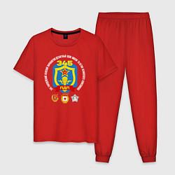 Пижама хлопковая мужская 345 ПДП ВДВ цвета красный — фото 1