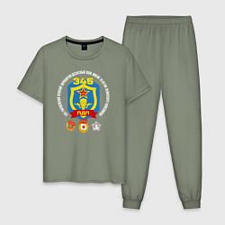 Пижама хлопковая мужская 345 ПДП ВДВ цвета авокадо — фото 1