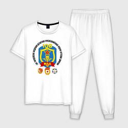 Пижама хлопковая мужская 106 ВДД ВДВ цвета белый — фото 1