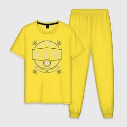 Пижама хлопковая мужская Our Last Night цвета желтый — фото 1