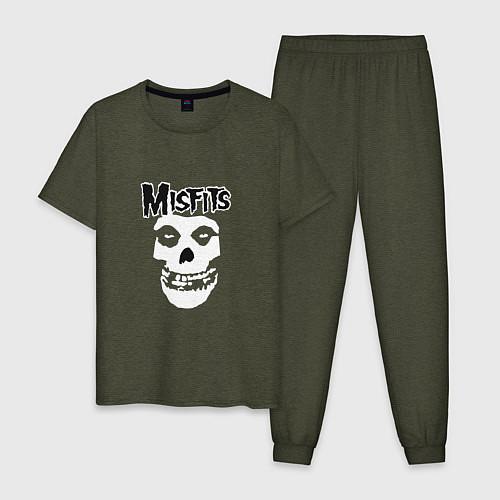 Мужская пижама Отбросы / Меланж-хаки – фото 1