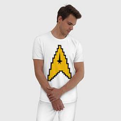 Пижама хлопковая мужская Star Trek: 8 bit цвета белый — фото 2