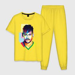 Пижама хлопковая мужская Neymar: fun-art цвета желтый — фото 1