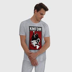 Пижама хлопковая мужская KMFDM 2013 цвета меланж — фото 2