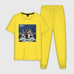 Пижама хлопковая мужская Chemical Brothers: The night цвета желтый — фото 1