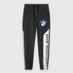Брюки на резинке мужские BMW Motorsport: Black Carbon цвета 3D — фото 1