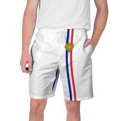 Шорты на шнурке мужские Франция: лента с гербом цвета 3D — фото 1