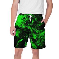 Шорты на шнурке мужские Зелёная краска цвета 3D — фото 1