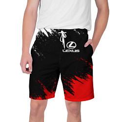 Шорты на шнурке мужские LEXUS цвета 3D-принт — фото 1