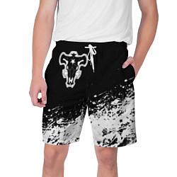 Шорты на шнурке мужские Черный Клевер Черный Бык 6 цвета 3D — фото 1