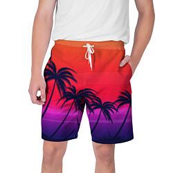 Шорты на шнурке мужские Очеровательный закат цвета 3D — фото 1