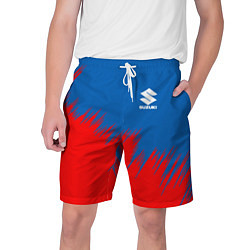 Шорты на шнурке мужские SUZUKI цвета 3D-принт — фото 1