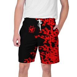Шорты на шнурке мужские ПРОКЛЯТАЯ ПЕЧАТЬ САСКЕ цвета 3D — фото 1